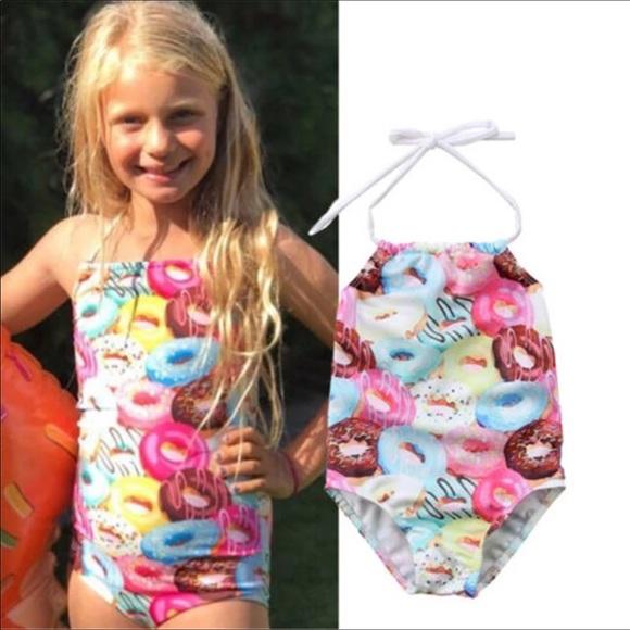 14304dc32b Swim | Girls Donut Bathing Suit Size 4 | Poshmark